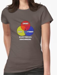 Venn Diagram - Electrical Engineers Womens Fitted T-Shirt