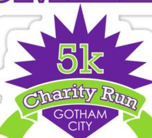 """Miles for Smiles"" Gotham City 5k Charity Run Sticker"