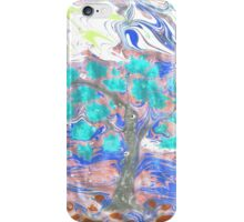 Hand drawn gouache landscape. iPhone Case/Skin