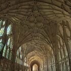 Gloucester Cathedral Cloisters V by Chris Tarling