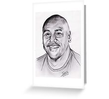 Jonah Lomu - a rugby legend Greeting Card
