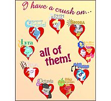 I have a crush on... all of them! - Poster, part 2 Photographic Print
