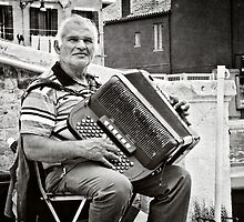 The Accordian Player by vividpeach