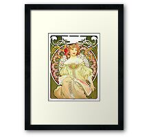 Alphonse Mucha - Rêverie Framed Print
