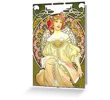 Alphonse Mucha - Rêverie Greeting Card