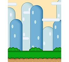 Super Mario World Vexel Background Photographic Print