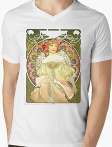 Alphonse Mucha - Rêverie Mens V-Neck T-Shirt