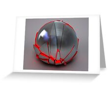 Silver Globe with Red Interior 1 Greeting Card