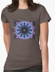 The Dark Forest I - Blue, Green, Purple Kaleidoscope Womens Fitted T-Shirt