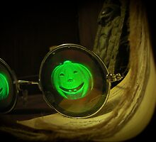 Spooky Halloween Pumpkin Hologram Specs by mdkgraphics