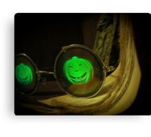 Spooky Halloween Pumpkin Hologram Specs Canvas Print