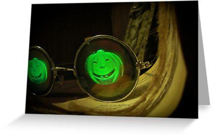 Spooky Halloween Pumpkin Hologram Specs by mdkgraphics