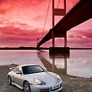GT3 and Severn Bridge at sunrise by supersnapper