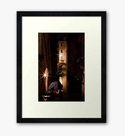 Softly Lit Canal Framed Print