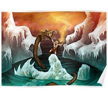 Thor versus Jörmungandr Poster