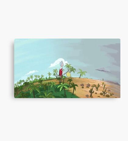 Rick and Morty-- Weather Canvas Print