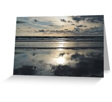 Evening on the beach Greeting Card