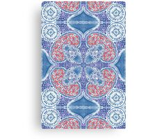 Greek Summer Sea Pattern Canvas Print