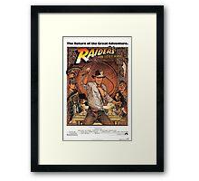 Raiders of lost ark indiana jones Framed Print