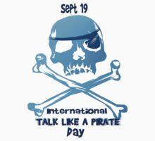 Talk Like A Pirate Crossbones Kids Tee