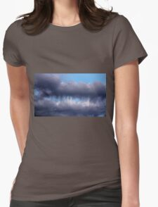 Teeth Biting Clouds Womens Fitted T-Shirt