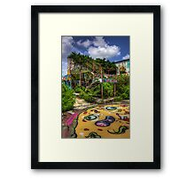 Desolate Stairs Framed Print