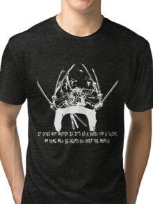 Asura Zoro Version White Tri-blend T-Shirt