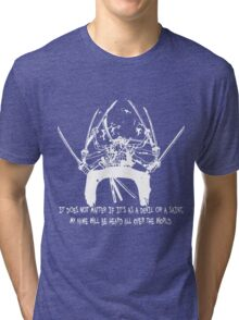 Asura Zoro Version White Tri-blend T-Shirt