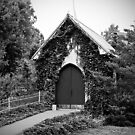 The Little Old Church in Black and White by Sherry Hallemeier