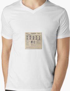 Clyde Barrow Wanted Mens V-Neck T-Shirt