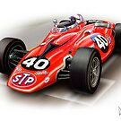 Indy 500  Turbine Car Indianapolis by davidkyte