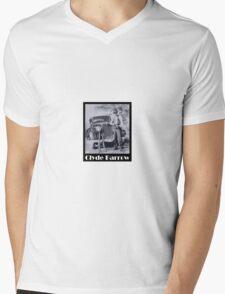 Clyde Barrow Mens V-Neck T-Shirt