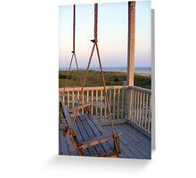 Ocean View at Oak Island Greeting Card