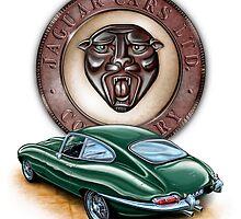 Jaguar XKE BRG by davidkyte