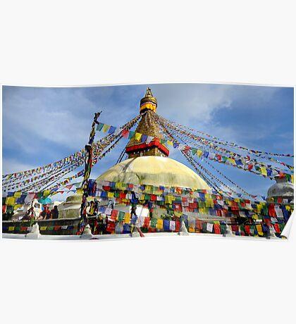 Boudhanath Stupa Poster
