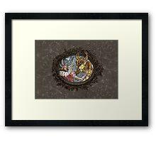 Demon Ball detail: Little monster in love Framed Print