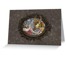 Demon Ball detail: Little monster in love Greeting Card