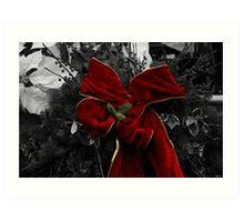 Christmas Bow Art Print