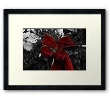 Christmas Bow Framed Print