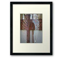 wet web Framed Print