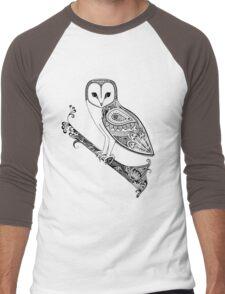 Intricate barn owl Men's Baseball ¾ T-Shirt
