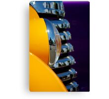 Plum Yellow Canvas Print