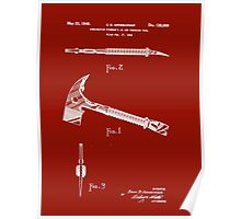 1940 Fireman's Ax and Wrecking Tool Patent Poster