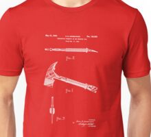 1940 Fireman's Ax and Wrecking Tool Patent Unisex T-Shirt