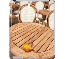 Yellow old autumn leaf fallen iPad Case/Skin