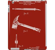 1940 Fireman's Ax and Wrecking Tool Patent iPad Case/Skin