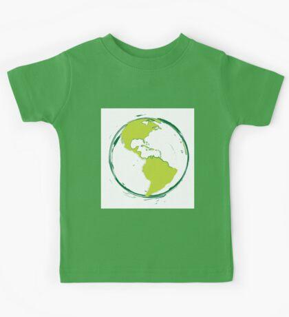 Green Planet Earth Kids Tee