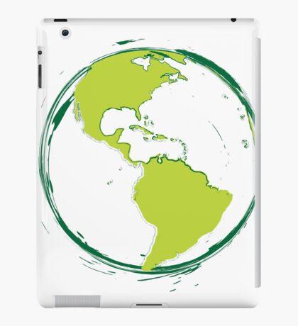 Green Planet Earth iPad Case/Skin