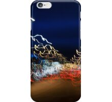 Cars driving motion night lights iPhone Case/Skin