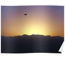 Sunset; Bagram, Afghanistan Poster